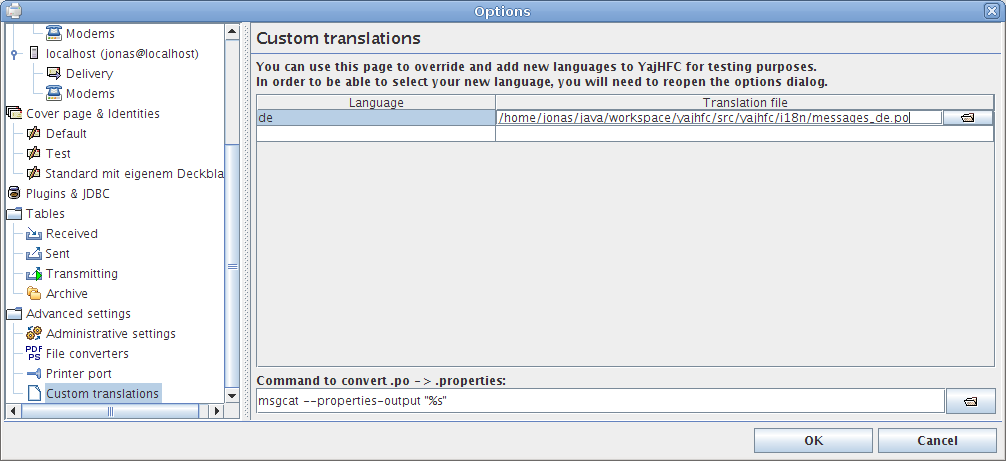Adding a translation for testing